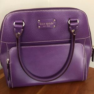 Kate Spade Purple Leather Handbag - LIKE NEW